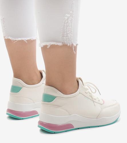 Białe buty sportowe Pana