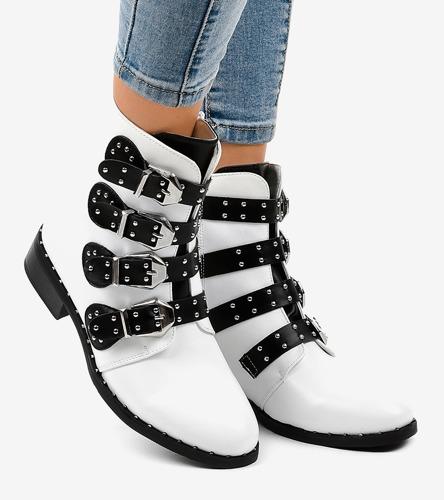 Białe sneakersy damskie Multicolor